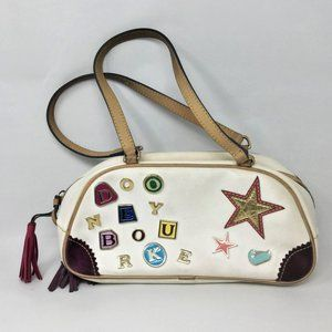 Vintage Dooney and Bourke White Leather Handbag